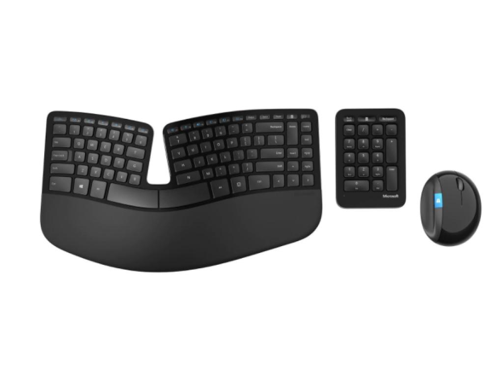 Безжична клавиатура и мишка Microsoft Sculpt Ergonomic