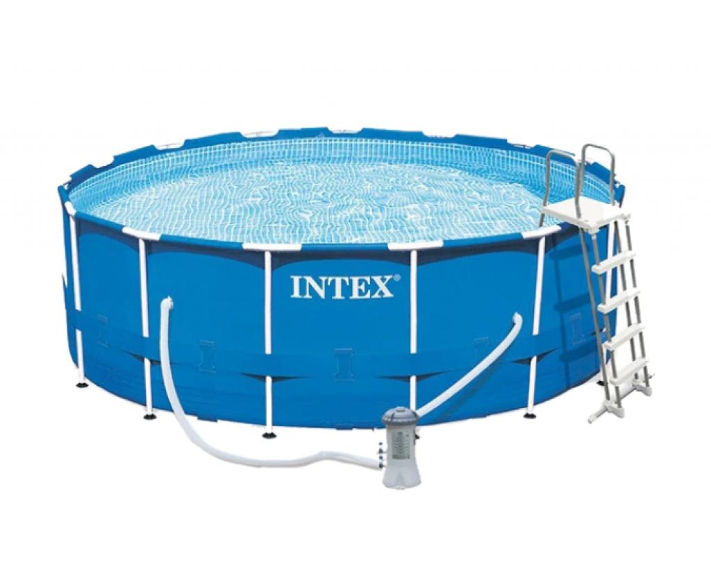 Сглобяем басейн Intex Frame с филтрираща помпа