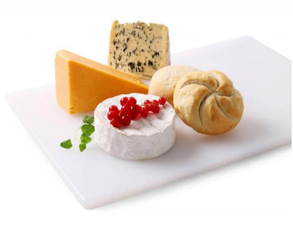 Дъска за рязане на млечни продукти и хляб