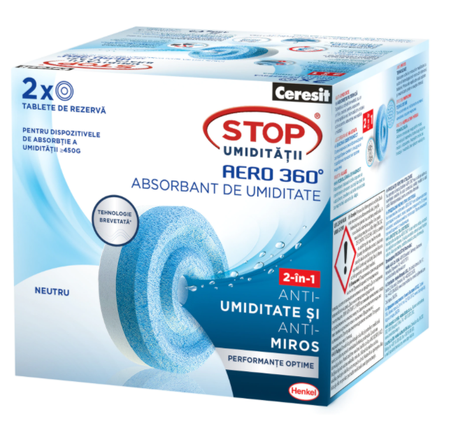 Резервни таблетки за влага Ceresit aero 360