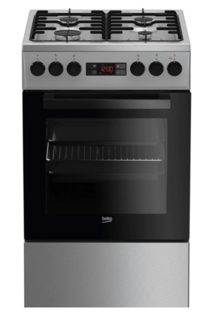 Комбинирана готварска печка Beko FSMT52320DXO