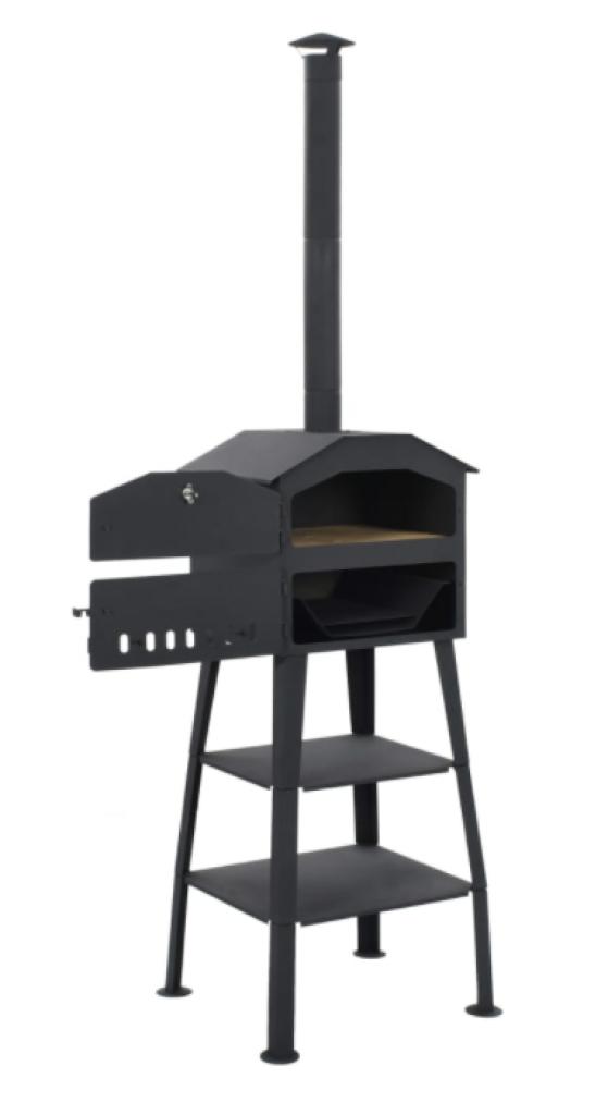 Фурна за пица на дървени въглища vidaXL