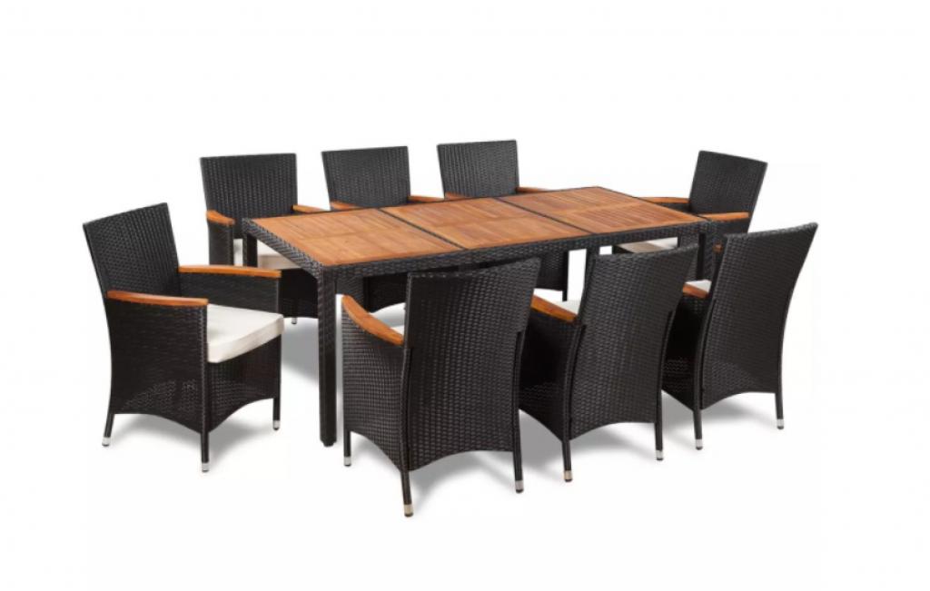 Комплект градински мебели vidaXL, 9 части